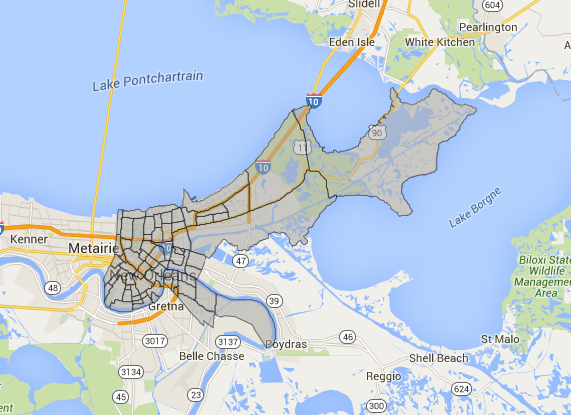 New orleans census tract neighborhoods shapefile download free new orleans census tract neighborhoods shapefile gumiabroncs Choice Image
