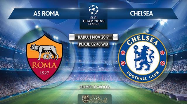 Prediksi Bola : AS Roma Vs Chelsea , Rabu 01 November 2017 Pukul 02.45 WIB
