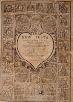 An elaborate title page for the New Testament.