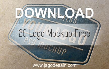 Download Logo Mockup PSD Terbaru Gratis