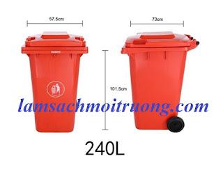 Cung cấp thùng rác 240 lít, thùng rác công nghiệp, thùng rác nắp hở giá rẻ