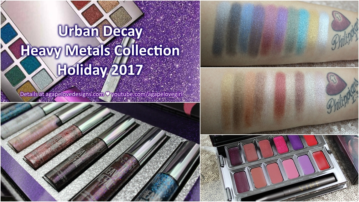 Urban Decay Heavy Metals Collection Holiday 2017 Agape Love Smashbox Photo Bombshell 5 Piece Color Hey Beauty Babes I Hope You Enjoy This Look At The For Filmed Video Just A Few Days After