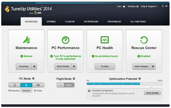 TuneUp Utilities 2014 14.0.1000.296 Final + serials [7T] download pc