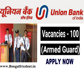Union Bank of India Recruitment 2019 - Apply Online For 100 Posts of Armed Guard
