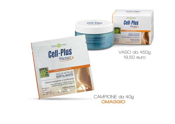Cell Plus aqua scrub esfoliante