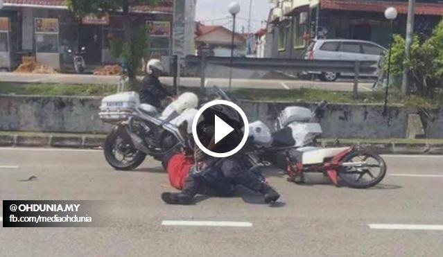 Video: Aksi Polis Ini Tangkap Peragut Macam Hero Dalam Filem