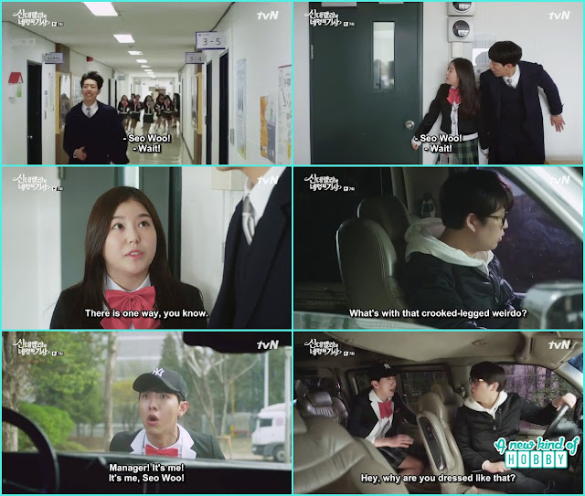 seo woo in girls uniform escaped from school - Cinderella and Four Knights - Episode 7 Review - I Love Her, I Love Her Not
