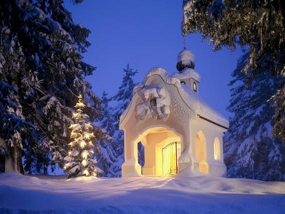 download besplatne pozadine za desktop 1152x864 slike ecard čestitke blagdani Božić kapelica