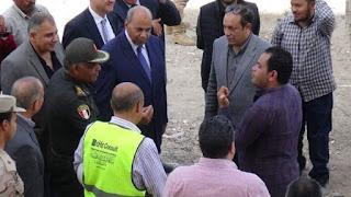 رئيس جامعة المنيا يتفقد سير العمل بمبني مستشفي ثلاثى الأجنحة.