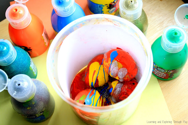 Easter Shake Process Art - Learning Through Play