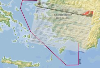 """""""Τρικυμία"""" στο Αιγαίο με την Τουρκία να θεωρεί ήδη """"δικό"""" της το μισό! Χάρτης πρόκληση"""