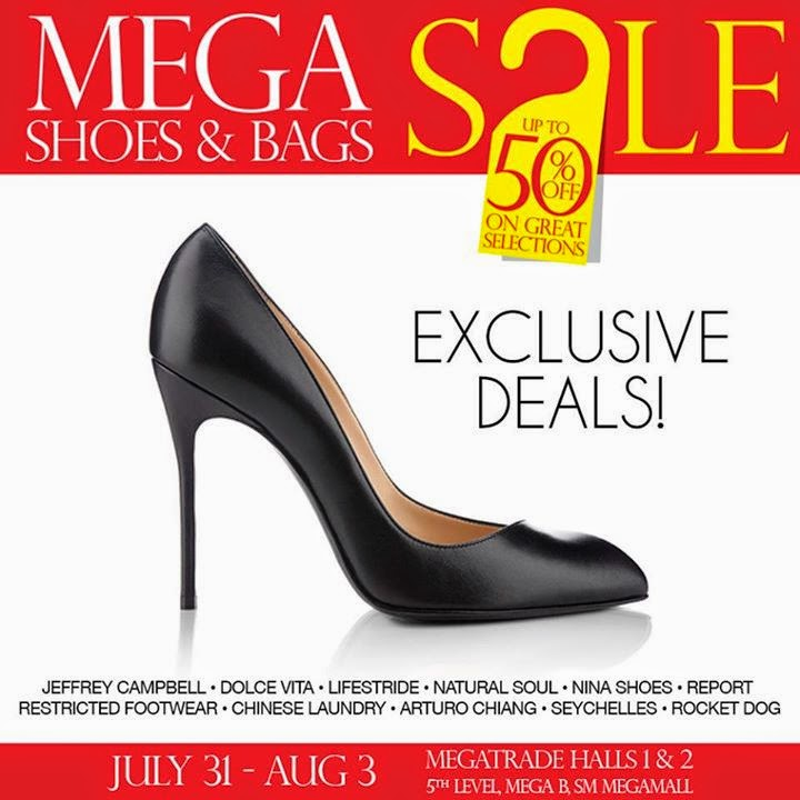 901f1f4b010 SM Mega Shoes And Bags Sale In SM Megamall July 31 to Aug 3 2014 ...