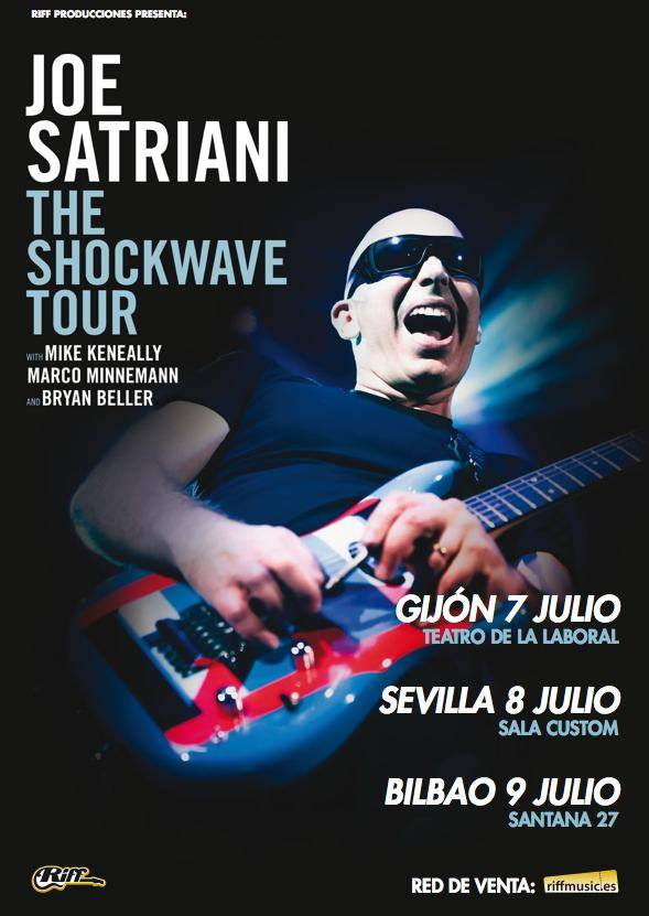 Stage iii joe satriani en gij n sevilla y bilbao 39 the for Todo baterias bilbao