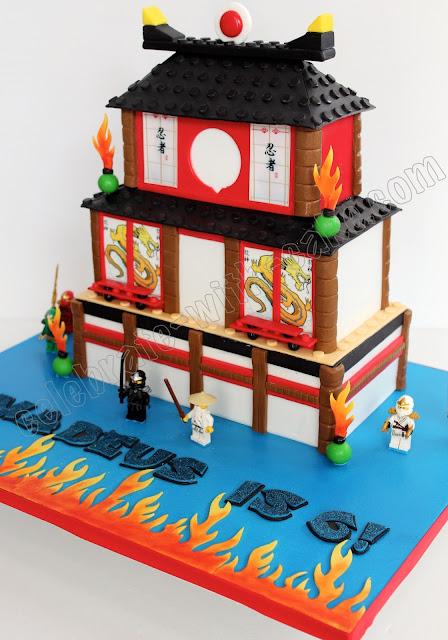 3d Sculpted Lego Ninjago Fire Temple Cake