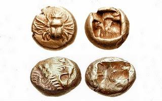 Где и когда появились первые монеты