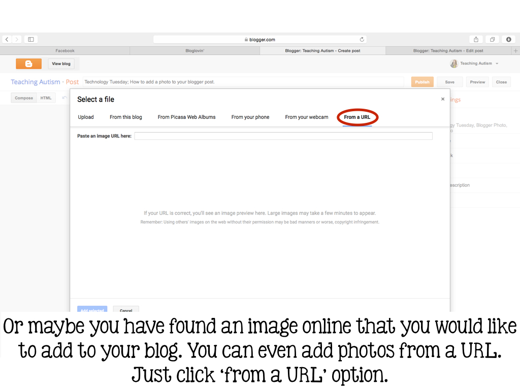 how to add posts by others to photos