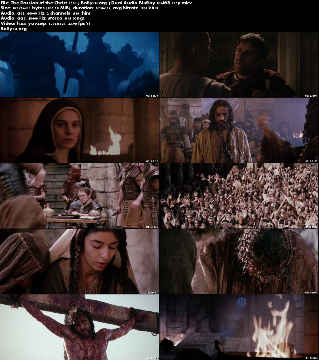 The Passion of the Christ 2004 BluRay 400Mb Hindi Dual Audio 480p Download