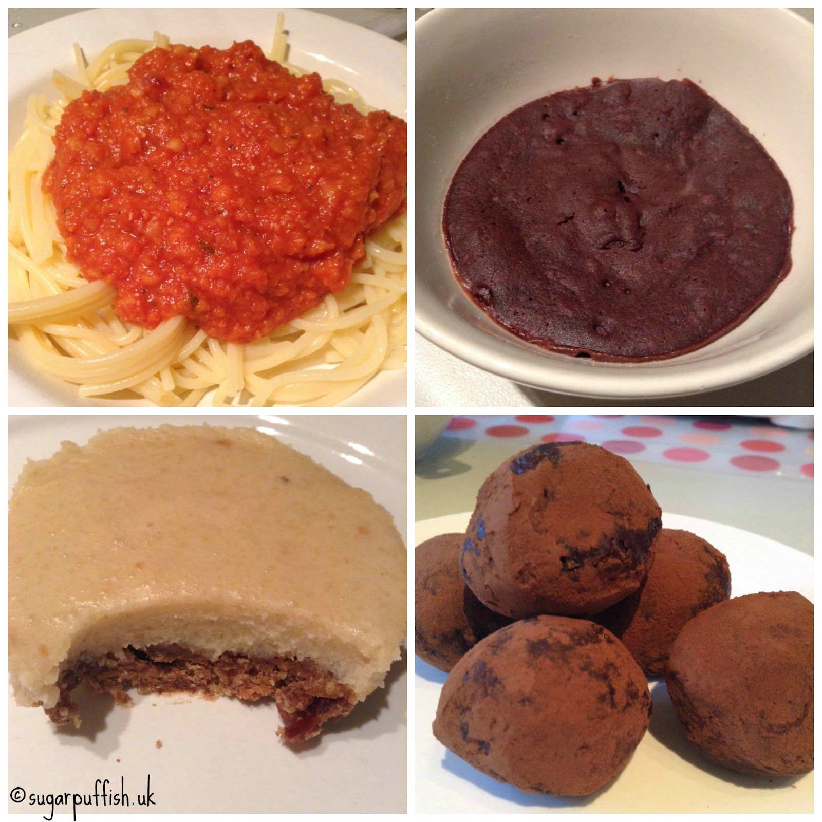 Tried and Tested Recipes #1 Vegan Truffles, Cake in a Mug & Lentil Bolognese