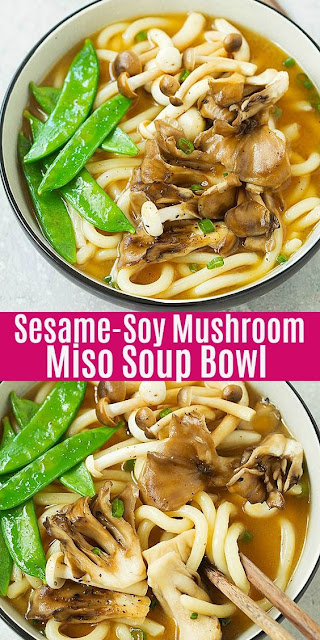 SESAME-SOY MUSHROOM MISO SOUP BOWL
