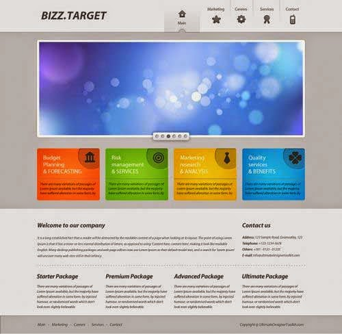 How to create a colorful business web layout