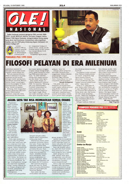 PENGURUS PSSI 1999-2003 FILOSOFI PELAYAN DI ERA MILENIUM