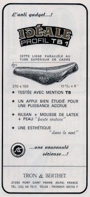 Tron et Berthet à Pont-Saint-Pierre - La selle Idéale. Le dernier modèle fabriqué à Pont-Saint-Pierre