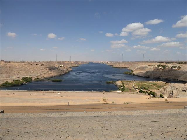 panorama dalla grande diga di assuan