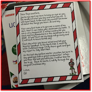 elf on a shelf letter