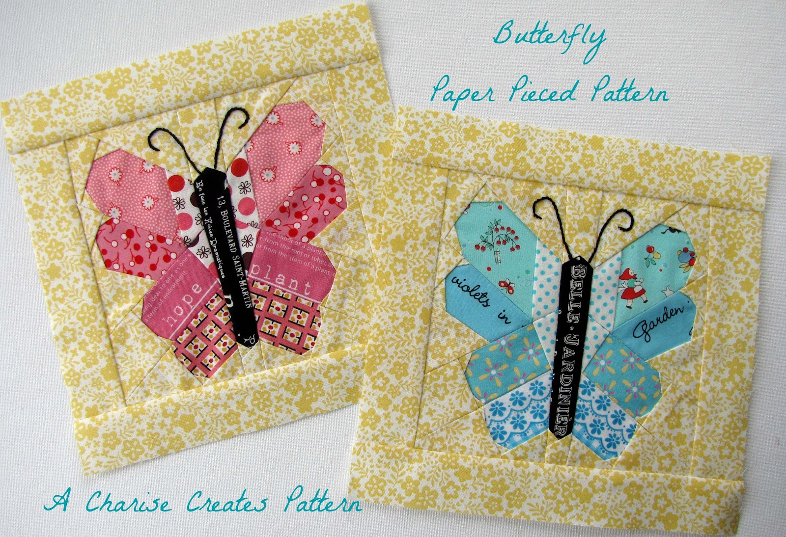 Free Sewing Pattern of the Day Butterflies Crib Quilt ... |Printable Butterfly Sewing Patterns