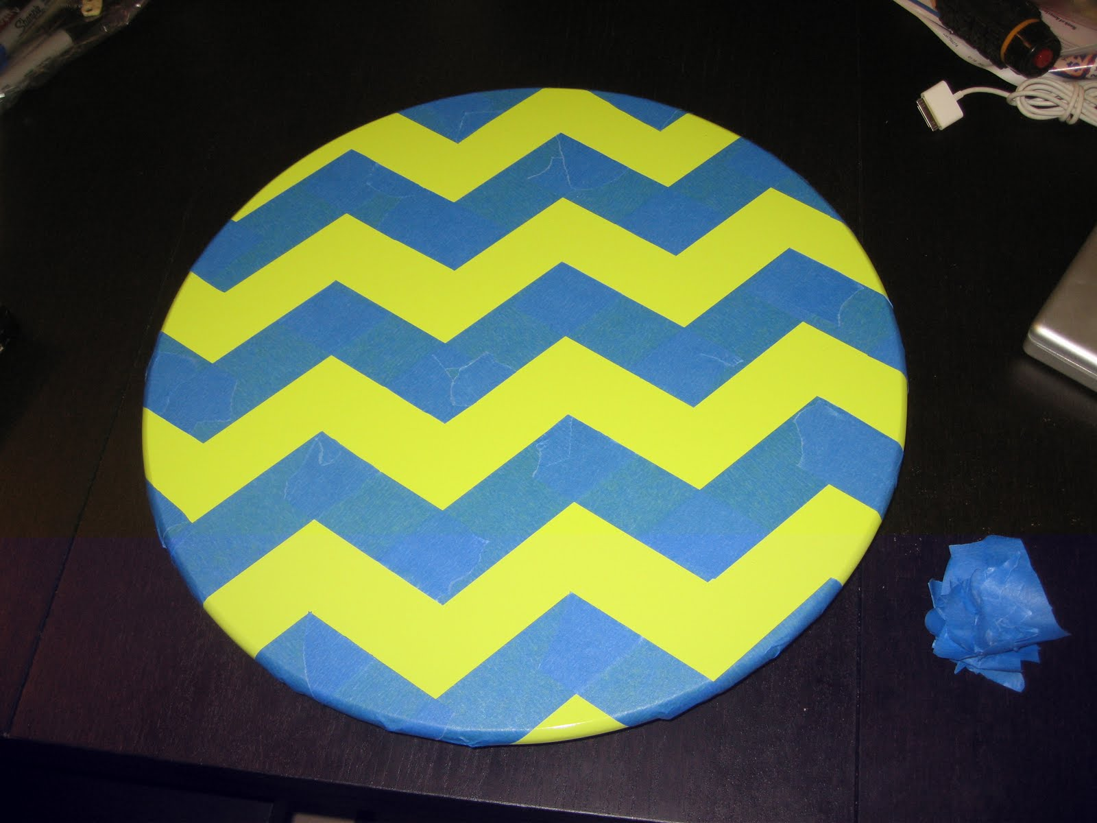 A Kitchen Table For Two Lazy Susan Makeover Amp Chevron