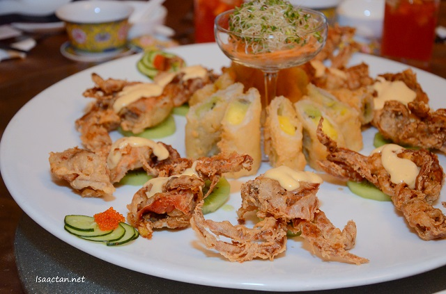 Crispy Soft Shell Crab with Mango and Kiwi Sauce - RM43