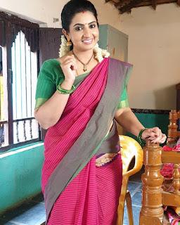 Serial Actress Sujitha Dhanush Beautiful Saree Pics