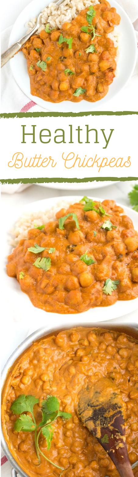HEALTHY BUTTER CHICKPEAS #vegetarian #yummy