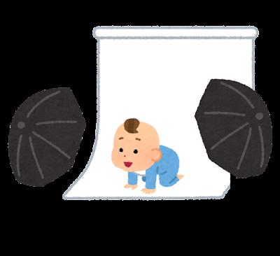 写真スタジオのイラスト(赤ちゃん)