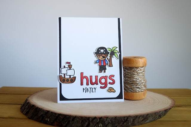 Custom Sentiment on a Pirate Card by Jess Crafts using Lawn Fawn Ahoy Matey