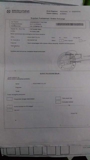 Contoh Surat Rujukan BPJS dari Faskes 1 ( Satu )