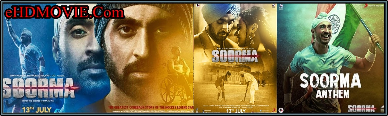 Soorma 2018 Full Movie Hindi 1080p - 720p - HEVC - 480p ORG WEB-DL 400MB - 650MB - 1.4GB - 2GB ESubs Free Download
