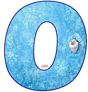 Alfabeto con Olaf saliendo del Hielo.