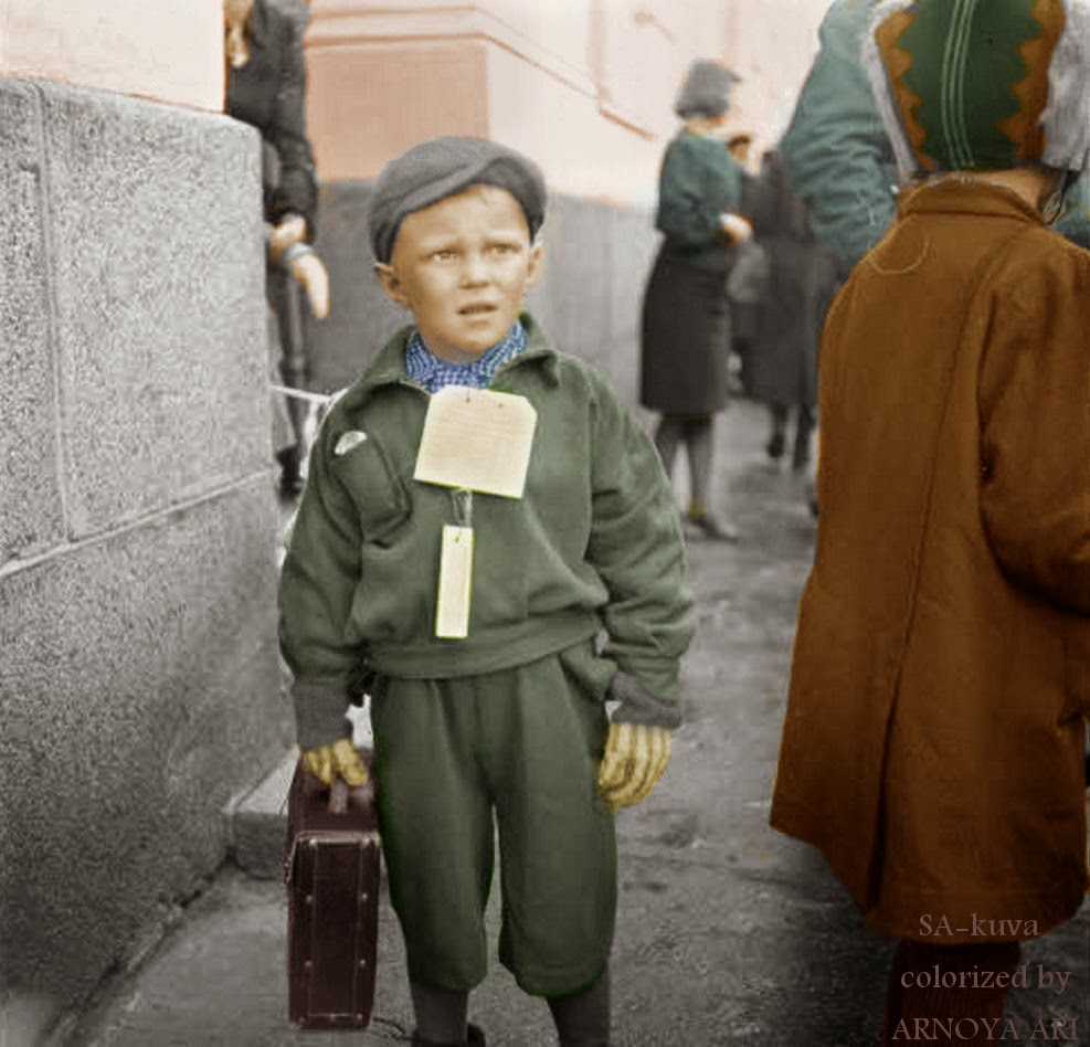 Sotalapset, color, colorization, colorized, värikuva