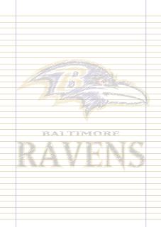 Papel Pautado Baltimore Ravens PDF rabiscado para imprimir na folha A4