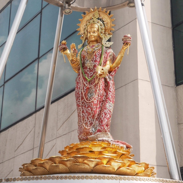 The Shrine to the Goddess Lakshmi, downtown Bangkok
