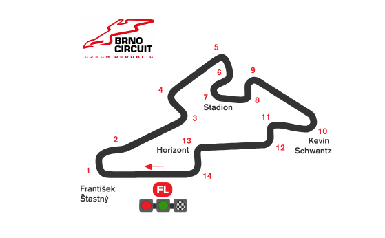 ブルノ・サーキット コース図