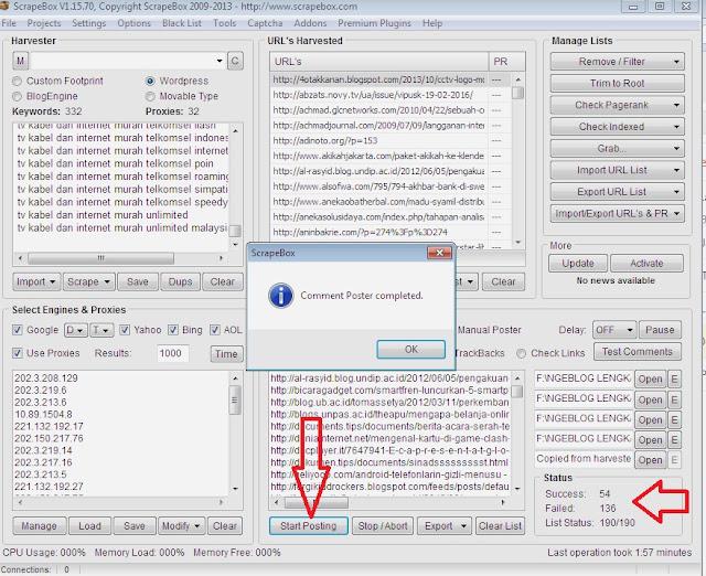 Cara Menggunakan Tool Scrape Box Untuk Meletakkan Backlink Komentar Blog