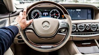 Driving a Mercedes-Benz