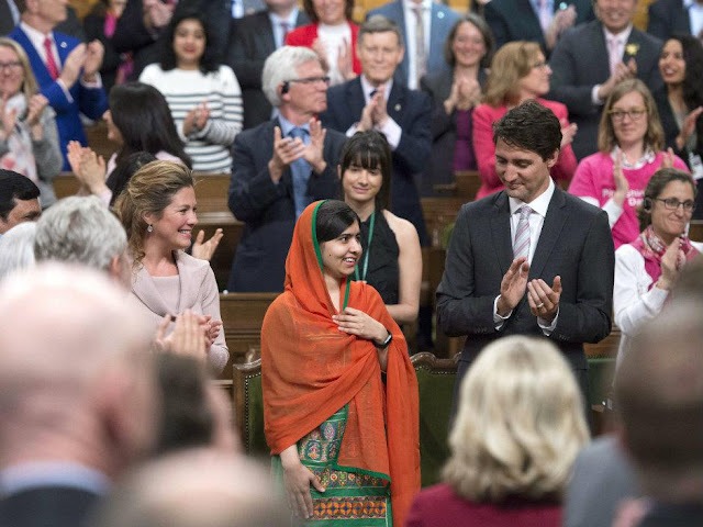 Malala in Canadian parliament