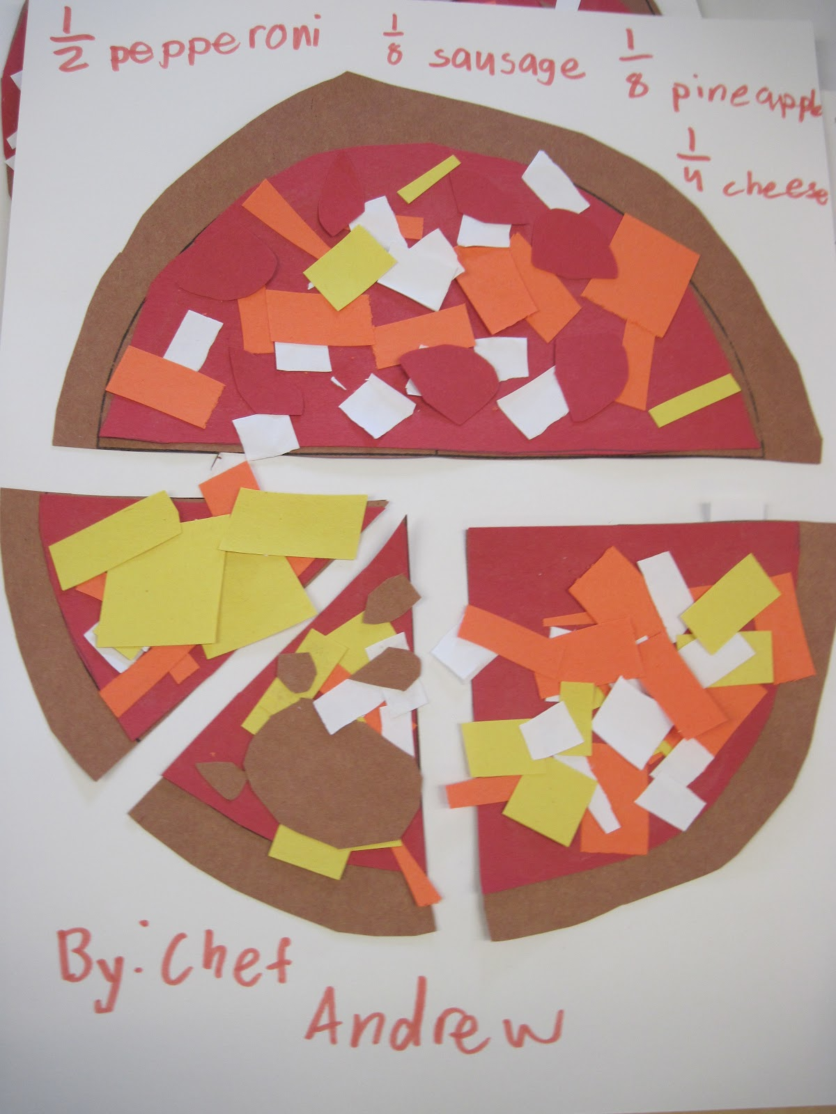 Polka Dotty Place Fraction Pizzas