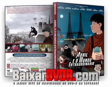 Abril e o Mundo Extraordinário (2017) DVD-R Autorado