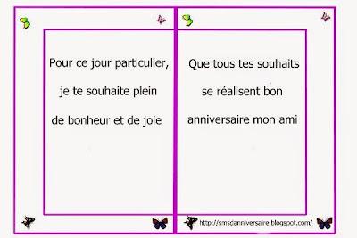 message anniversaire amie en français