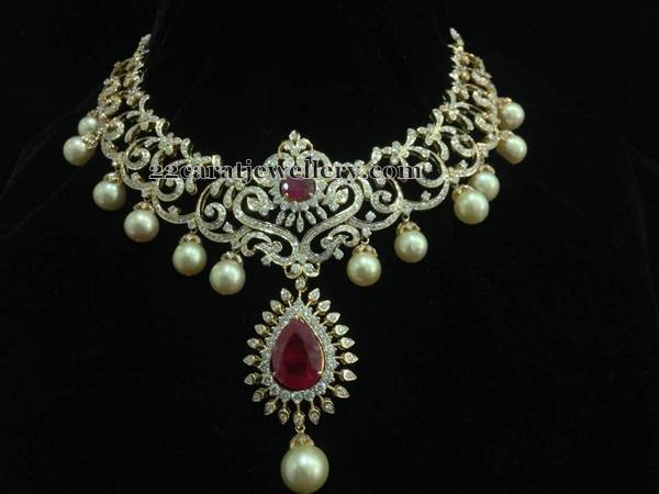 7 Lakhs Latest Diamond Necklace