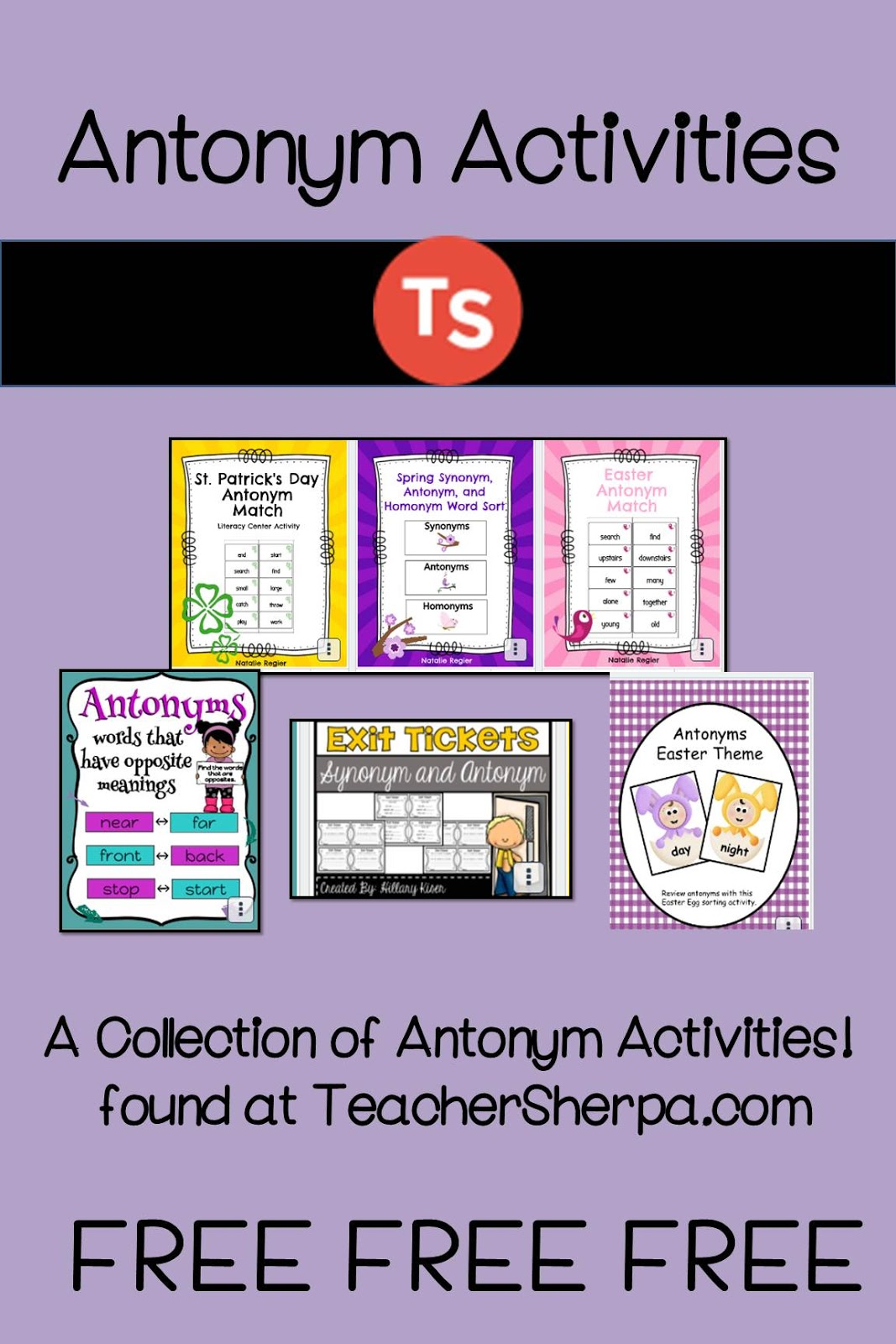 Engaging Lessons And Activities Antonym Activities